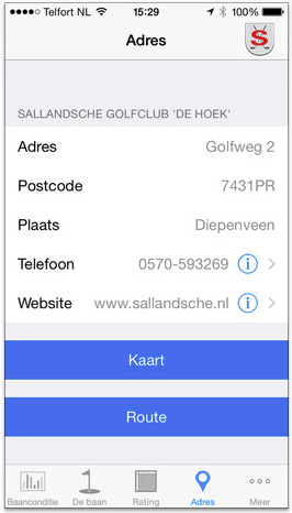 Screenshot Informatie